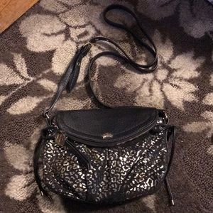 Juicy Couture Leather and Gold Print Crossbody